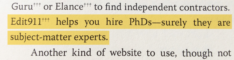 Expert PhD Editors Guy Kawasaki APE Book Endorsement